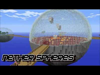 Biospheres Nether Minecraft mod for free download