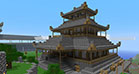 A oriental japanese style building which was build in Minecraft - 04