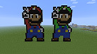 A Super Mario and Luigi brothers - popular video games Mario characters - now as a buildings in Minecraft - 24