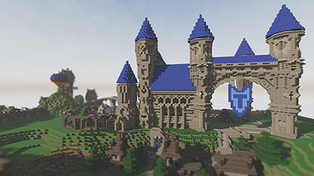 how to build a cool big castle in minecraft