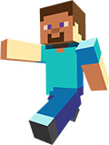 Minecraft Steve is a hero main mob of the Minecraft sandbox game, with his default skin - Minecraft sp free for download is the one of most amazing games in history of video games industry - in this picture is a fanart made skin