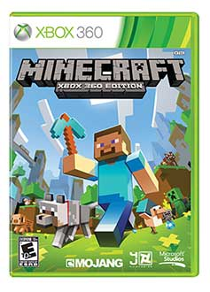 Minecraft XBOX 360 editon version for XBOX 360 cover - download, game, games, sandbox, Minecraft for other platforms, systems, consoles