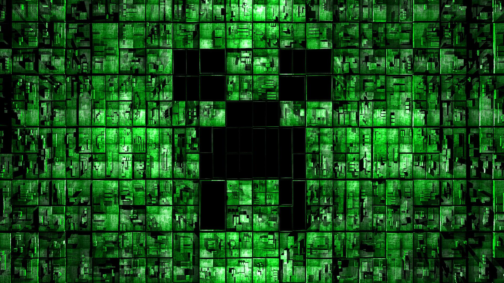 Minecraft Wallpaper Digital Creeper