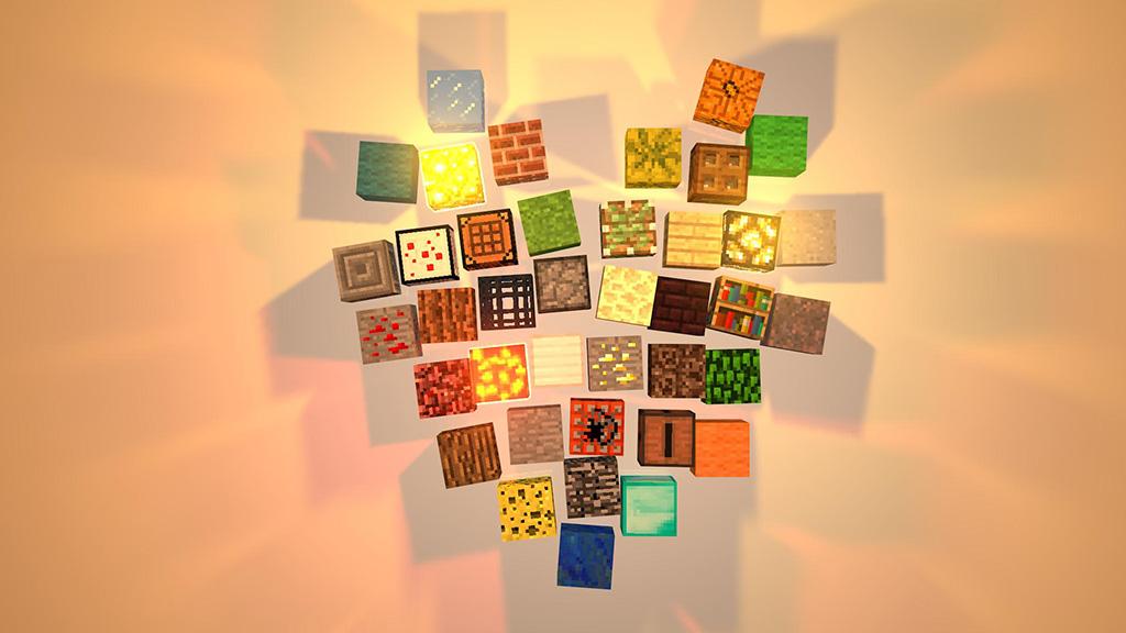 Minecraft Wallpaper Minecraft super heart of blocks
