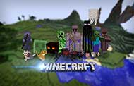 Download Minecraft wallpaper - Mobs of Minecraft on the floating background wallpapers Minecraft for free - 10